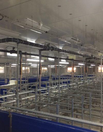 aménagement verraterie avec trappes entrée air régulée au plafond